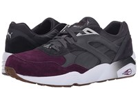 Puma R698 Blocked Periscope Italian Plum Gum Men's Shoes Black