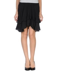 Denny Rose Knee Length Skirts Black