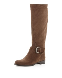 Sesto Meucci Dusty Suede Buckled Boot Taupe