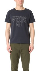 Remi Relief Lw Finish Nyc Tee Navy