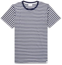 Norse Projects Niels Striped Cotton Jersey T Shirt Blue
