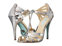 Blue By Betsey Johnson Tee Silver Foil High Heels
