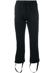 Y 3 Side Striped Track Trousers Black