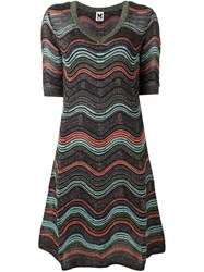 M Missoni Zig Zag Knit A Line Dress Black