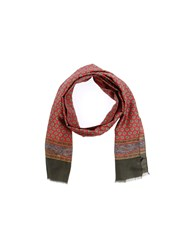 Daniele Alessandrini Homme Oblong Scarves Brick Red