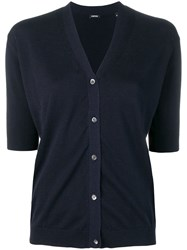 Aspesi Short Sleeve Cardigan Blue