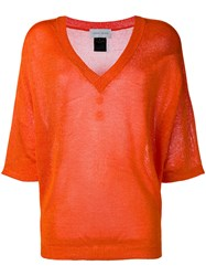 Christian Wijnants Knitted Top Women Viscose S Yellow Orange