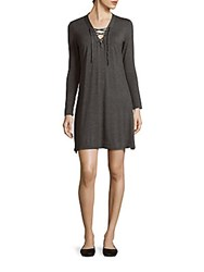 Candc California Long Sleeve Hadley Dress Charcoal