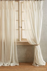 Anthropologie Pinch Pleat Curtain Cream