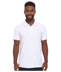 New Balance Challenger Classic Polo White Men's Short Sleeve Pullover