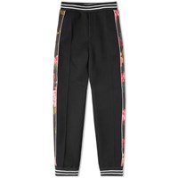 Alexander Mcqueen Floral Taped Jogger Black