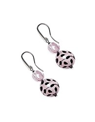 Antica Murrina Veneziana Audrey 2 Color Block Murano Glass Earrings Pink