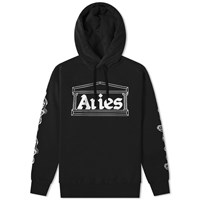 Aries 2 Chains Logo Hoody Black