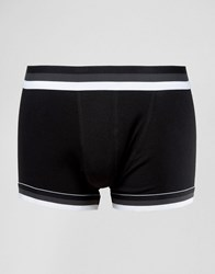 Asos Hipsters With Textured Stripe Waistband Monochrome Black