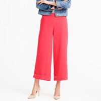 J.Crew Cropped Wide Leg Pull On Pant