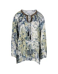 George J. Love Shirts Blouses Dark Blue
