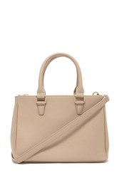 Forever 21 Textured Faux Leather Satchel Taupe