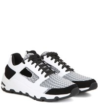 Opening Ceremony Almma Leather And Fabric Sneakers Black