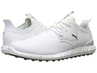 Puma Golf Ignite Spikeless Pro White White Silver Golf Shoes