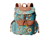 Sakroots Artist Circle Flap Backpack Teal Spirit Desert Backpack Bags Blue