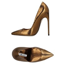 Brian Atwood Pumps Gold