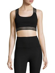 Beyond Yoga Sheer Illusion Bralette Jet Black