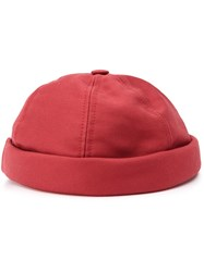 Junya Watanabe Man Rolled Up Hat Red
