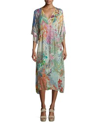 Johnny Was Alyssa Printed Kimono Dress Women's