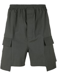 Rick Owens Deconstructed Cargo Shorts Green
