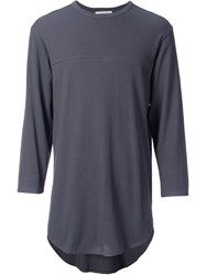 Monkey Time Three Quarter Sleeve T Shirt Grey