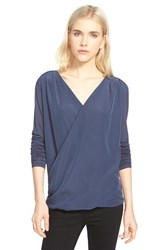 Trouve Women's Trouve Drape Top Navy Indigo