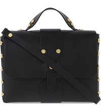 Sandro Abby Leather Satchel Black