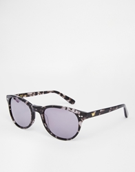 Whistles Faye D Frame Sunglasses Blackandclear