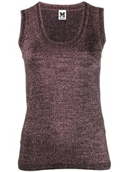 M Missoni Knitted Tank Top Pink