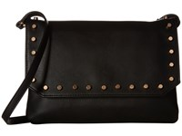Mighty Purse Vegan Leather Charging Flap X Body Bag Black W Gold Studs Handbags