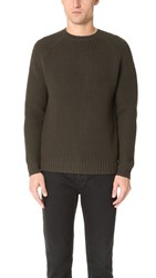 Steven Alan Raglan Heavy Crew Neck Sweater Olive