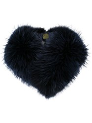 Mr And Mrs Italy Fur Collar Blue