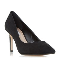Dune Abbigal Pointed Toe Mid Heel Court Shoes Dirty Black