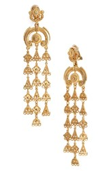 Oscar De La Renta Women's Ornate Charm Clip Earrings