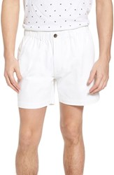 Vintage 1946 Snappers Elastic Waist 5.5 Inch Stretch Shorts White