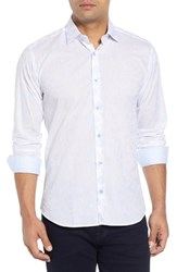 Jared Lang Slim Fit Circle Sport Shirt Light Blue