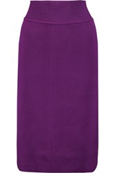 Raoul Stretch Ponte Pencil Skirt Purple