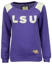 Colosseum Women's Lsu Tigers Fleece Sweatshirt Purple
