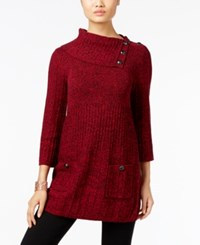 Styleandco. Style Co. Turtleneck Tunic Sweater Only At Macy's New Red Amore Black