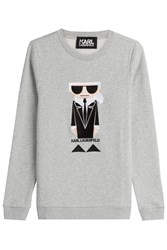 Karl Lagerfeld Kocktail Cotton Sweatshirt Grey