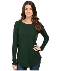 Mod O Doc Slub Jersey Long Sleeve Rib Inset Tee Cypress Women's T Shirt Green