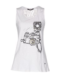 Cafe'noir Cafenoir Tank Tops White