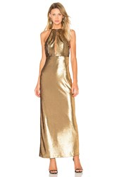 House Of Harlow X Revolve Ali Sequin Maxi Metallic Gold