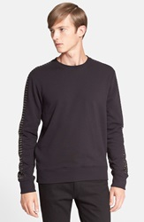Just Cavalli Studded Sleeve Sweatshirt Black