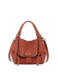Kooba Jonnie Mini Leather Tote Bag Rust Red